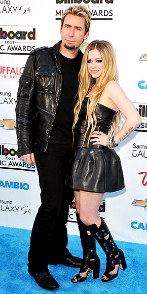 Avril Lavigne and Chad Kroeger.
