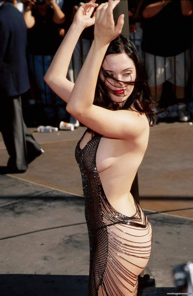 Rose McGowan during her Marilyn Manson phase.