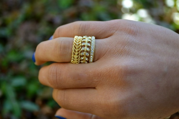 CATHY WATERMAN INSPIRED GOLD RING SET IN SIZE 7 · $13.00