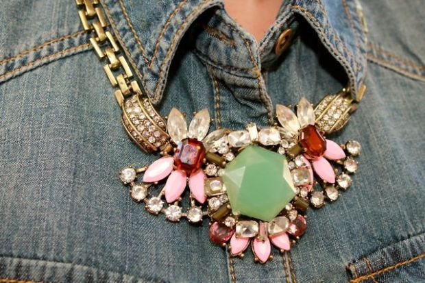J CREW INSPIRED CRYSTAL FLORAL GEM NECKLACE · $40.00