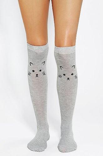 Urban Outfitters Kitten Knee-High Socks