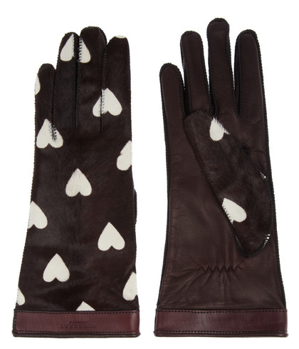 Burberry Prosum Heart-Print Gloves.