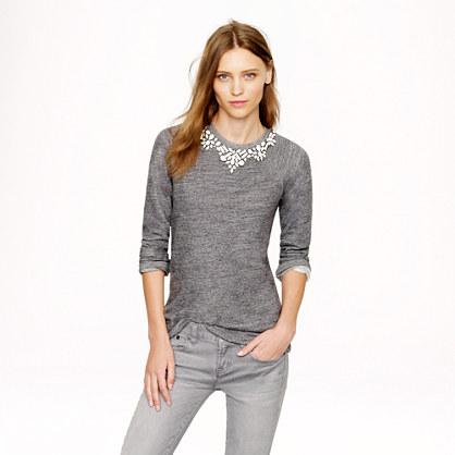 Bib Necklace Sweatshirt.