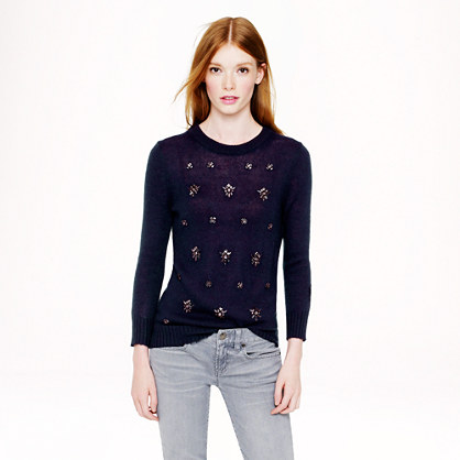 Jeweled-Cluster Sweater.
