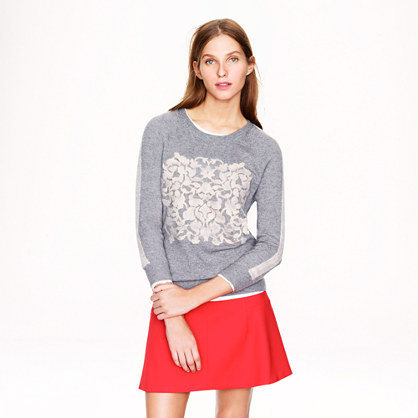Embossed Floral Sweater.