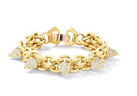 Pave Spike Chain Bracelet: $48.