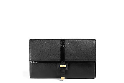 Leather Foldover Clutch: $198.