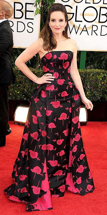 Tina Fey in Carolina Herrera.