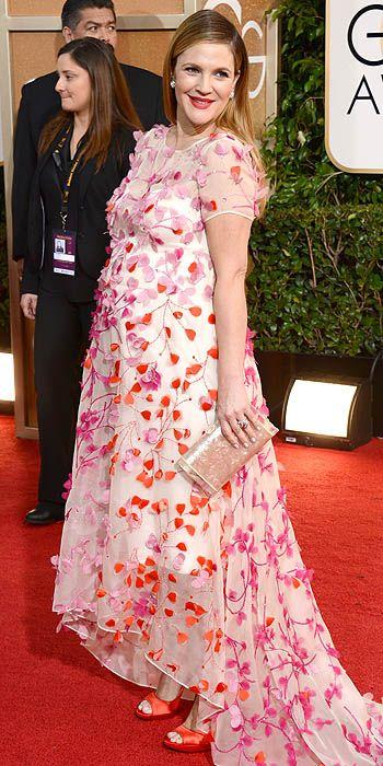 Drew Barrymore in Marchesa.