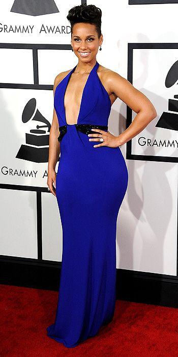 Alicia Keys in Armani Prive.