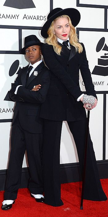 Madonna (and son David) in Ralph Lauren.