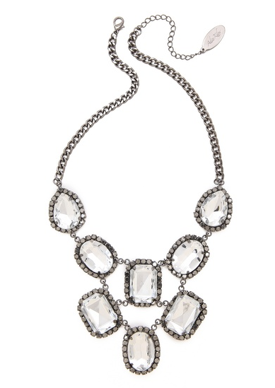 Crystal Statement Necklace - $70.
