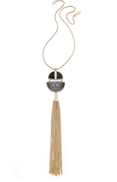 Fringe Pendant Necklace - $60.
