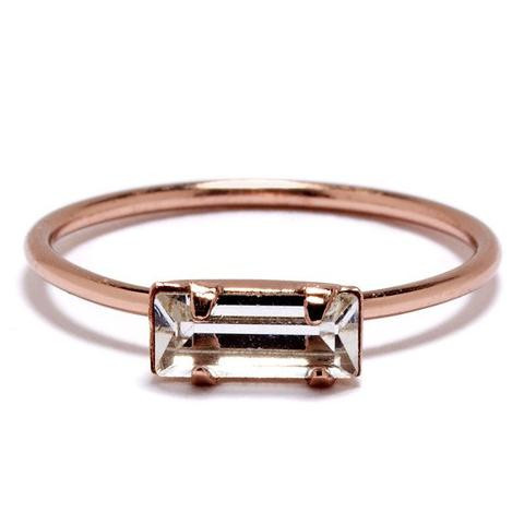 Tiny Baguette Ring. $64.