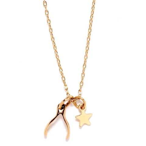 Wishbone Necklace. $78.