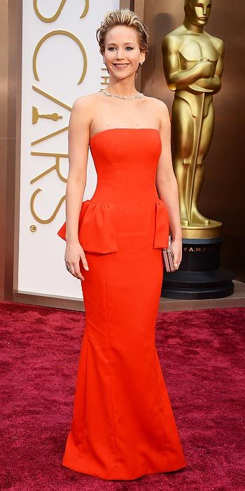 Jennifer Lawrence in Christian Dior.