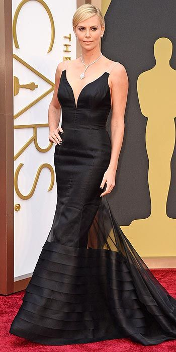 Charlize Theron in Christian Dior.