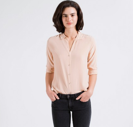The Silk Rounded Collar - Blush