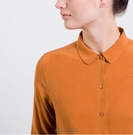 The Silk Rounded Collar - Merigold