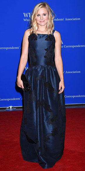 Kristen Bell in Dolce and Gabbana.