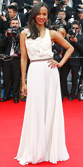 Zoe Saldana in Victoria Beckham.