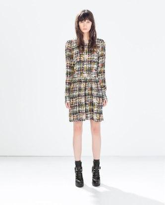 Printed Dress - Zara.