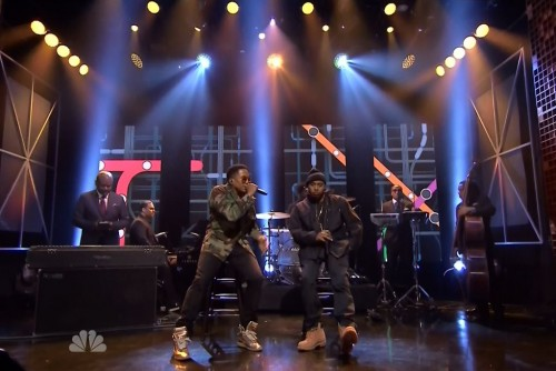 Nas, Q-Tip and the Roots on The Tonight Show, April 2014