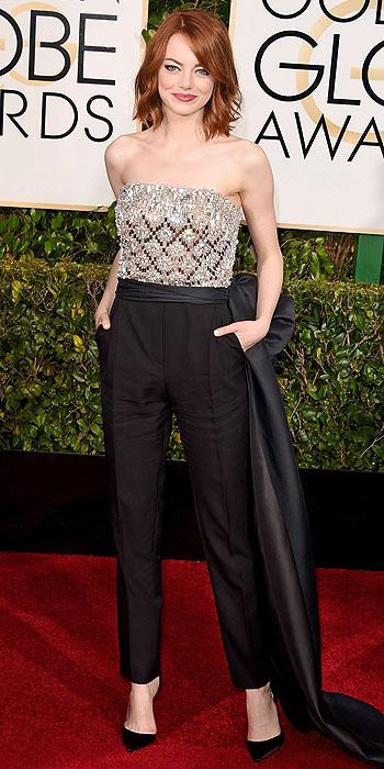 Emma Stone in Lanvin.